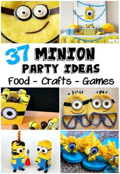 Crafting in the Rain: Minion Party Ideas