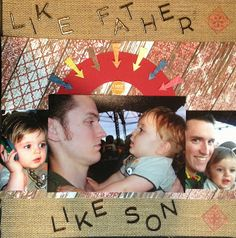 """Lynn's Everyday Ideas: ScrapStuffz """"Inspired By"""" October Reveal-Father and Son Layout #Lynnseverydayideas #SSIB"""
