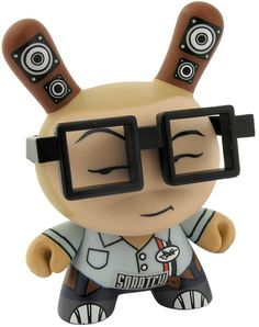 'Blue DJ Qbert' by Huck Gee. You can rock him with glasses or his massive cap.