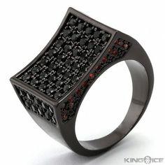 Black ring, red gems. Black Rings, Gems, Clothing, Outfit, Rhinestones, Gemstones, Clothes, Emerald, Kleding