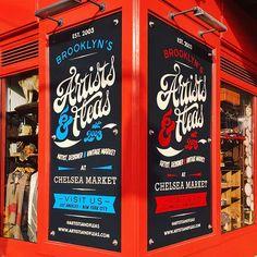 Artists & Fleas Chelsea Market Autor: Zimbardi Calomino & Caetano Calomino