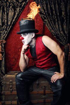 circus clown steampunk style / #dark_circus #night_circus #carnival