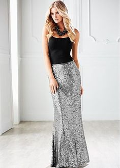 I want a sequin maxi skirt so bad!!!