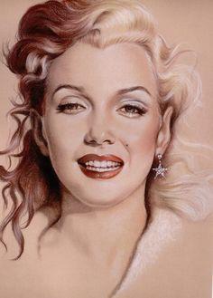 Marilyn Monroe Art portrait Marilyn Monroe Artwork, Marilyn Monroe Life, She Movie, Female Stars, Norma Jeane, Beautiful Celebrities, Photo Manipulation, Artist At Work, Movie Stars