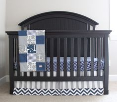 Nautical Crib Bedding Custom Crib Bedding Baby by GiggleSixBaby