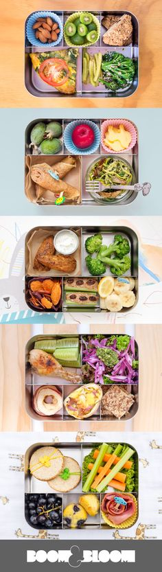 Real Food bento box ideas to inspire your real food journey. #boomandbloom…