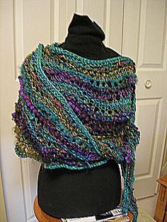 Ravelry: Feather 'n Fan Organic Wrap pattern by Jane Thornley Knitted Coat Pattern, Knit Or Crochet, Knitted Shawls, Crochet Scarves, Knitting Stitches, Knitting Patterns, Simply Knitting, Wrap Pattern, Freeform Crochet