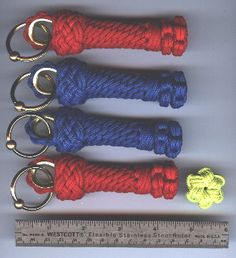 ~ Star Knot Key Fobs ~ Diagram 1To make the Star Knot Key Fob, you will need: A. notebook B. cord (3mm paracord) C. white index card D. bottle/bos'n mug E. dental floss (waxed) F. measuring tape G. 3mm paracord H. scissors I. &thimble/keyring/bead& J....