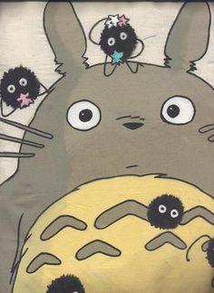 Totoro with Soot Sprites by ~Tsuki-Tsubasa on deviantART