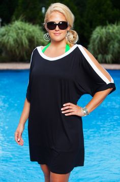 Yes, we know it is hard to believe, this Always For Me Cover Open Sleeve Tunic is considered just a plus size cover up! From the moment you try it on you will figure out that this plus size cover up wi