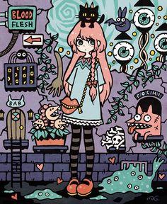 Pretty Art, Cute Art, Graphic Design Illustration, Graphic Illustration, Character Art, Character Design, Cartoon Art Styles, Art Sketchbook, Anime Art Girl