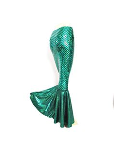 Green Mermaid scale skirt Stretch Costume by ZanzaDesignsClothing