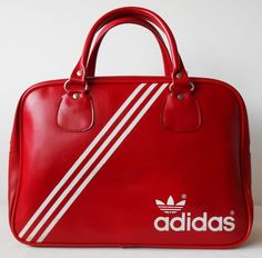 Added to the holdall collection. Vintage 1970s Adidas Peter Black Northern Soul Weekend Sports Holdall Bag.