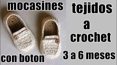 mocasines con boton a crochet