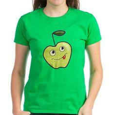 Cute Cartoon Happy #Apple Tee on CafePress.com $25.99 #shirt #green