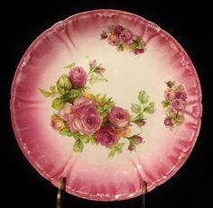 F.A. Mehlem Royal Bonn Rose Scalloped Plate