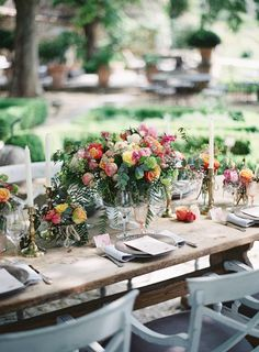 #tablescapes, #centerpiece  Photography: Greg Finck - gregfinck.com  Read More: http://www.stylemepretty.com/destination-weddings/2014/11/07/provencal-bohemian-garden-wedding-inspiration/