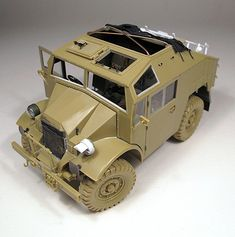 The good old Tamiya British Quad Gun Tractor with a BMW from Lion Roar accompanied with a Figure from Hornet and Wolf. Military Modelling, Armored Vehicles, Tamiya, Panzer, Good Old, Scale Models, Quad, Tractors, Plastic