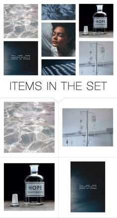 """""""the blue in an ocean of grey."""" by elle-of-roses ❤ liked on Polyvore featuring art"""