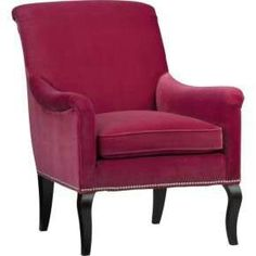 SAVOIR CHAIR by SeñoritaRuth  i love the brooding good looks of this arm chair. a great addition to a moody boudoir or a living room decorated in tones of grey and black. simple yet ornate legs and soft upholstery make it a great choice.