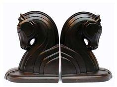 Art deco horse bookends.