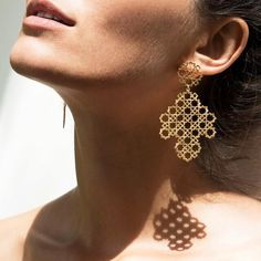 Our Ketama earring #inspiredbytiles #bigearring #morocco #zoeandmorgan