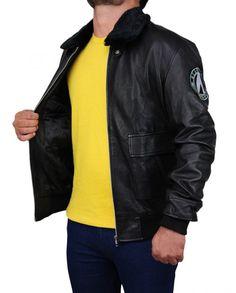Simon Pegg Star Trek Beyond Jacket Simon Pegg, Star Trek Beyond, Black Faux Leather, Rib Knit, Faux Fur, Leather Jacket, Celebs, Stars, Sleeves