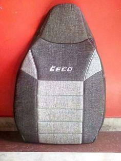 Decent car seat cover for maruti eeco. Material: jute & pu leatherite.