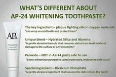 AP-24 Whitening Toothpaste  Benefits:  - Brightens and Whitens teeth  - helps remove stains  -helps remove and prevent plaque buildup  -helps prevention of dental cavities  -provides a long-lasting smooth, clean, and fresh feel  -NO HARMFUL PEROXIDES  -safe for kids 3 and UP  - safe for pregnant women  -Dentist approved  -Vanilla mint flavor    $20 local/$23 shipped!  THERE IS ALSO A MONEY BACK GUARANTEE!    If you are interested in becoming a distributor, it's very easy to sign up. There's…