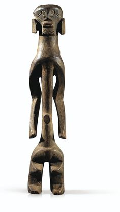 Statue, Mumuye, Nigeria | Sotheby's - The date of entry into Swiss collection of Gilbert Huguenin (1963, acquired from René Rasmussen) Place the statue among the few first witnesses of the art Mumuye reached the West. Indeed, it is only at the end of the 1960s, following the anarchy caused by the Ibo secessionist war in southern Nigeria, added to the abandonment of religious practices qu'affluèrent on the market of traditional works of art is Nigerian. The geographic isolation of Mumuye…