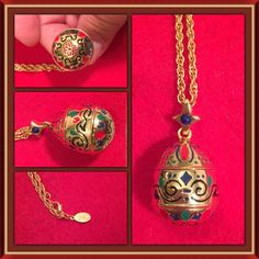 Vintage Joan Rivers Russian Egg Necklace Excellent condition!! Wrapped and stored carefully; vintage Joan from the late 80's!; gold tone and timeless....Joan's attention to detail is amazing!....SF/PF home. Joan Rivers Jewelry Necklaces