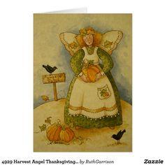 4929 Harvest Angel Thanksgiving Greeting Card