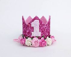 Check out this item in my Etsy shop https://www.etsy.com/uk/listing/523066154/1st-birthday-crown-pink-birthday-party