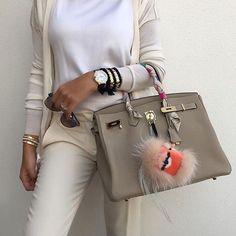 Fabulous HERMÈS Birkin and #FENDI Bag Bug from @mishahhh #HERMESBirkin…