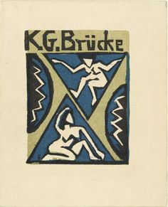 """* Cover of the invitation to the exhibition of the """"Brücke"""" Artists' Group at the Galerie Fritz Gurlitt, Berlin Oldenburg, Schmidt, Moma, Ernst Ludwig Kirchner, Expressionist Artists, Museum Of Modern Art, Painting Inspiration, Dresden, Art History"""