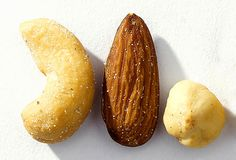 ❥ Cashews, Almonds, and Hazelnuts~   These nuts are not only rich in protein, but they also contain magnesium, a mineral that plays a vital role in converting sugar into energy. Research suggests magnesium deficiency can drain your energy. Magnesium is also found in whole grains, particularly bran cereals, and in some types of fish, including halibut.
