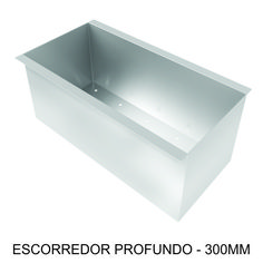 ESCORREDOR PROFUNDO - 300mm Complementa o porta talheres, para objetos maiores, como faca, conchas, etc.