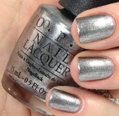46 Best OPI Silver & Grey Shades images in 2019   Nail paint shades ...