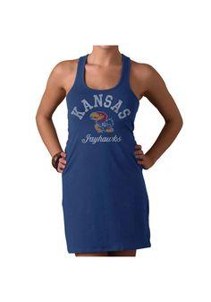 a8536ddc793 Kansas Jayhawks Dress- Junior Women s Royal Blue Malibu Tank Dress  http   www