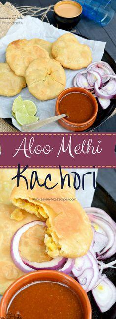 Wonderful Tea-time Snack / Breakfast - Aloo Methi Kachori  / Potato Fenugreek Kachori !