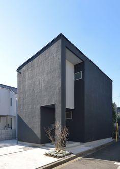 Black Building, Black House Exterior, Japanese Interior Design, House 2, Terrace, House Design, Architecture, Outdoor Decor, Homes