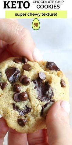 Keto Chocolate Chip Cookie Recipe, Sugar Free Chocolate Chips, Chocolate Recipes, Chocolate Cookies, Brownie Recipes, Paleo Cake Recipes, Dark Chocolate Keto, Chocolate Videos, Almond Flour Cookies