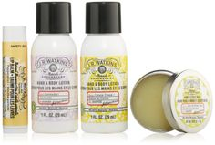 Amazon.com: J.r. Watkins On The Go Skin Care Kit: Health & Personal Care $9  I don't know all of these products but I have lemon cream hand cream and grapefruit exfoliating shower gel from this brand and I'm actually obsessed with them