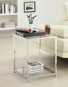 Amazon.com: Convenience Concepts Palm Beach End Table, White: Kitchen & Dining