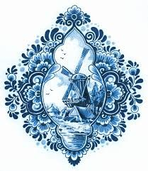 delft blue tattoo - could be gorgeous!