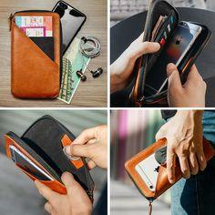 Men Zipper Leather Slim Travel Wallet Passport Wallet – karrytown Mens Travel Wallet, Cable Storage, Passport Wallet, Business Travel, Cow Leather, Special Gifts, Zip Around Wallet, Slim, Zipper