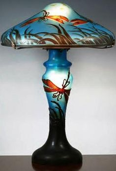 ♈ Dragonfly Versailles ♈ dragonflies in art, photography, jewelry, crafts, home & garden decor - Dragonfly Lamp - Emille Galle