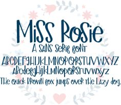 Miss Kate Cuttables Miss Rosie Font font Scrapbooking, Card Making, Paper Crafting, Digital Paper Hand Lettering Alphabet, Doodle Lettering, Creative Lettering, Lettering Styles, Brush Lettering, Pretty Fonts, Beautiful Fonts, Fancy Fonts, Cool Fonts