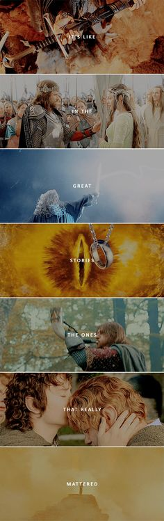 Those were the stories that stayed with you, that meant something, even if you were too small to understand why. #lotr