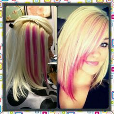Purple for me instead of pink – friseur Hair Color And Cut, Cool Hair Color, Pink Hair Highlights, Pink Blonde Hair, Pelo Multicolor, Multicolored Hair, Hair Color Techniques, Mom Hairstyles, Corte Y Color